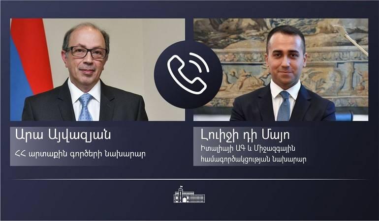 Photo of Արա Այվազյանն Իտալիայի ԱԳ նախարարի հետ զրույցում անդրադարձել է Արցախի դեմ ադրբեջանական ագրեսիայի հետևանքով ստեղծված իրավիճակին և տարածաշրջանային զարգացումներին