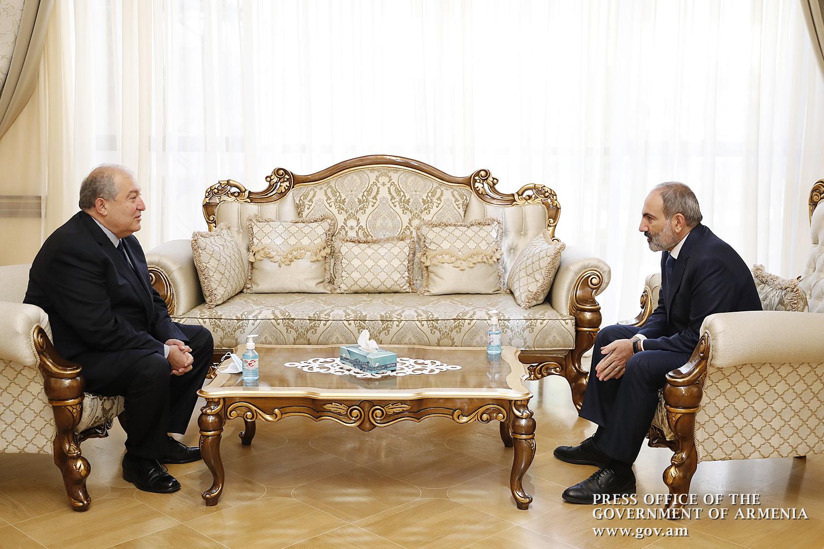 Photo of Состоялась встреча премьер-министра Никола Пашиняна и президента Армена Саркисяна