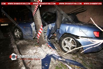 Photo of Ողբերգական ավտովթար Երևանում. 67-ամյա վարորդը Honda-ով բախվել է ծառին, ապա քարե պարսպին. նա տեղում մահացել է