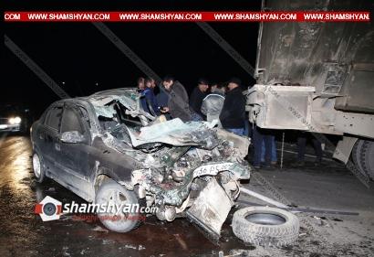 Photo of Կոտայքի մարզում 37-ամյա վարորդը Opel-ով բախվել է բենզատարին. կա վիրավոր