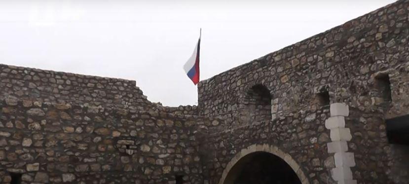 Photo of Ամարասի պարսպին՝ ռուսական դրոշ
