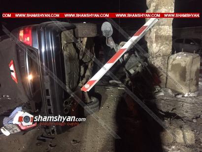 Photo of Կոտայքի մարզում 22-ամյա վարորդը Mercedes-ով բախվել է Opel-ին, ապա երկաթգծի երկաթյա արգելապատնեշին և կողաշրջվել