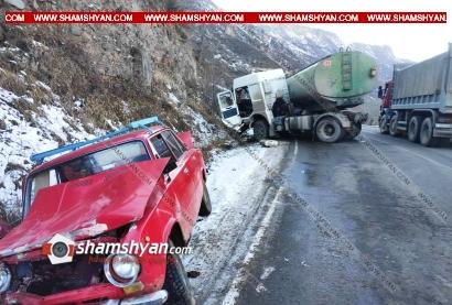 Photo of Սյունիքի մարզում ճանապարհի մերկասառույցի պատճատով իրանցի վարորդը MAN-ով բախվել է 03-ին. կան վիրավորներ
