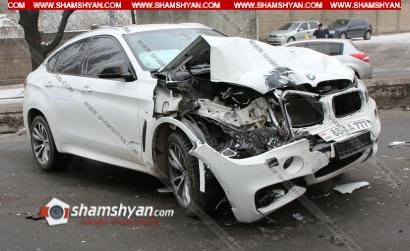 Photo of Ճանապարհի մերկասառույցի պատճառով Մյասնիկյան պողոտայում բախվել են BMW X6-ը, Mercedes-ն ու մարդատար «Գազելը»