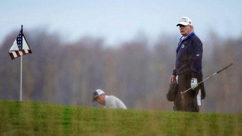 Photo of «Ущерб бренду». Ассоциация гольфа США отказалась проводить свой чемпионат в гольф-клубе Трампа