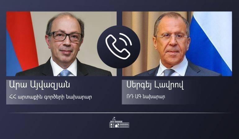 Photo of ԱԳ նախարար Արա Այվազյանի հեռախոսազրույցը ՌԴ ԱԳ նախարար Սերգեյ Լավրովի հետ