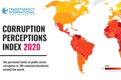 Transparency International-ը հրապարկել է 2020թ. կոռուպցիայի ընկալման վարկանիշը. Հայաստանը զբաղեցրել է 60-րդ տեղը