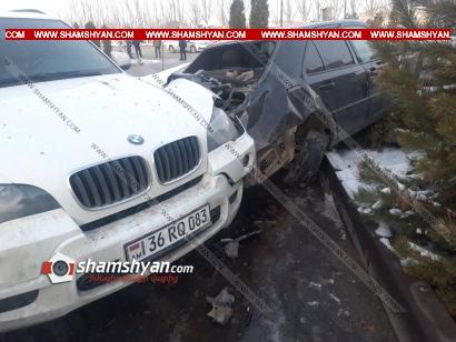 Photo of Ավտովթար Արարատի մարզում. 41-ամյա վարորդը Mercedes-ով բախվել է BMW X6-ին և կոտրել քարե ցանկապատը. կա վիրավոր