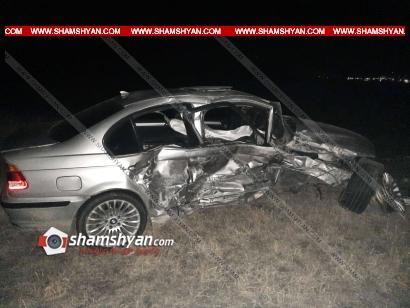Photo of Ողբերգական ավտովթար Լոռու մարզում․ բախվել են BMW-ն ու LADA Priora-ն, կա 1 զոհ, 3 վիրավոր