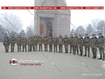 Photo of Վազգեն Սարգսյանի անվան ռազմական համալսարանի ժամկետային զինծառայողները այցելել են Եռաբլուր զինվորական պանթեոն՝ հարգանքի տուրք մատուցելու նահատակված հերոսներին
