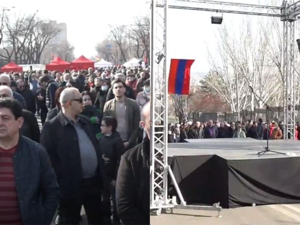 Photo of «Հայրենիքի փրկության շարժման» հանրահավաքը Բաղրամյան պողոտայում. ՈՒՂԻՂ