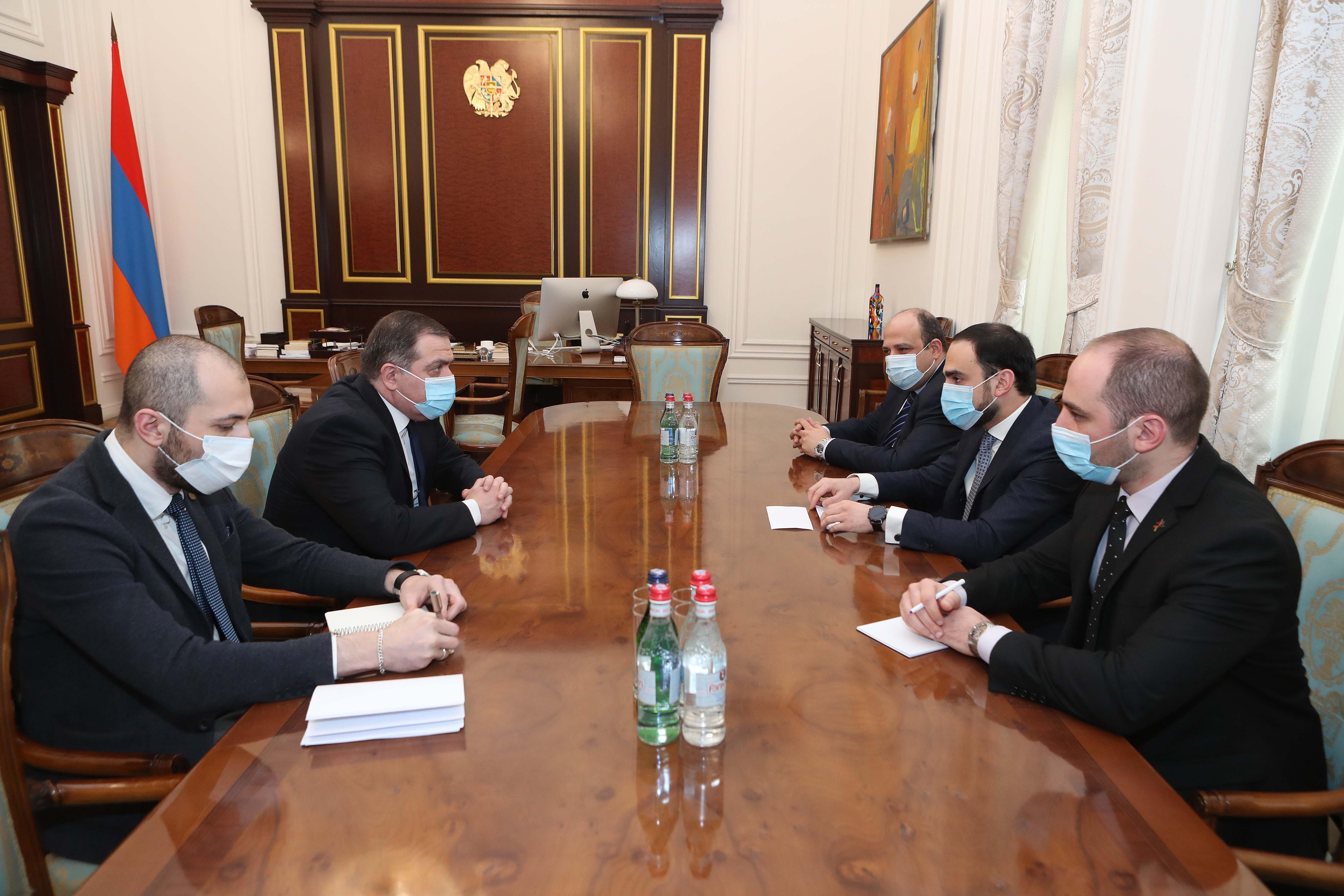 Photo of Вице-премьер Республики Армения Тигран Авинян принял посла Грузии