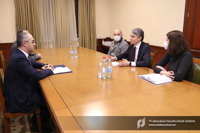 Photo of ՊԵԿ նախագահ Էդվարդ Հովհաննիսյանն ընդունել է ՄԱԿ-ի Զարգացման ծրագրի մշտական ներկայացուցիչ Դմիտրի Մարիյասինին