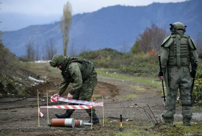 Photo of Российскими миротворцами в Карабахе от неразорвавшихся боеприпасов очищено в целом 859,3 га