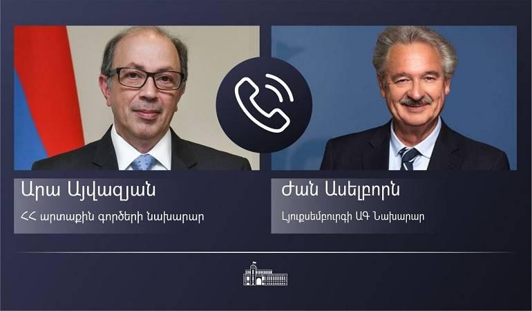 Photo of ԱԳ նախարար Արա Այվազյանի հեռախոսազրույցը Լյուքսեմբուրգի ԱԳ նախարար Ժան Ասելբորնի հետ