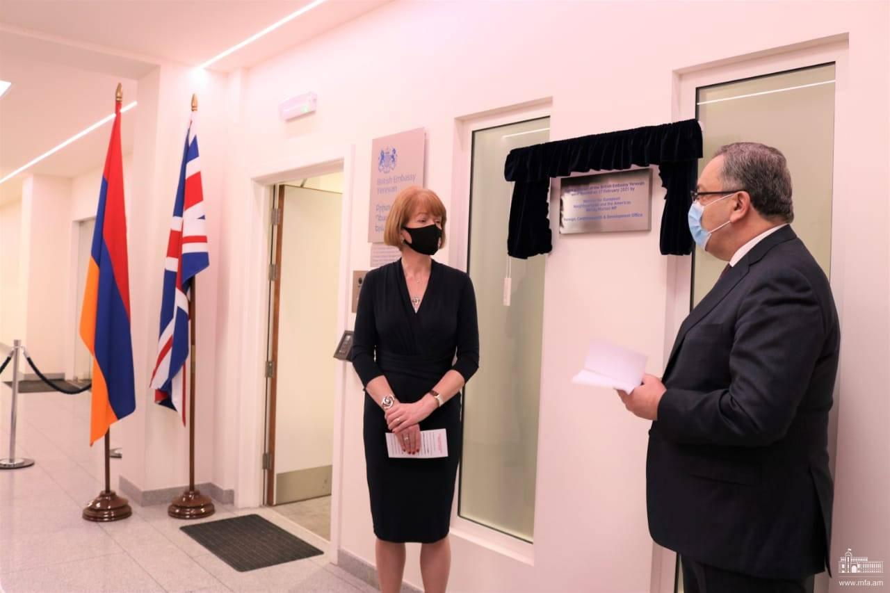 Photo of Ավետ Ադոնցը մասնակցել է Մեծ Բրիտանիայի և Հյուսիսային Իռլանդիայի Միացյալ Թագավորության դեսպանության նոր գրասենյակի բացմանը