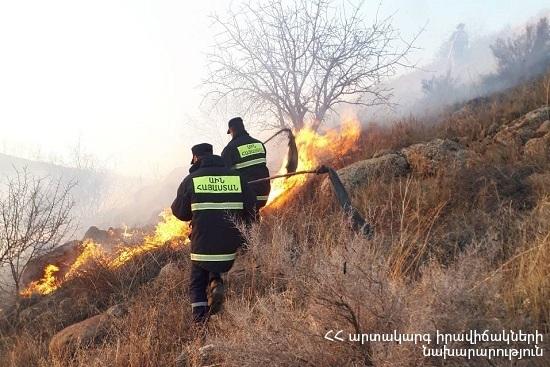 Photo of Հրշեջ-փրկարարները մարել են ընդհանուր 65.8 հա տարածքում բռնկված հրդեհները