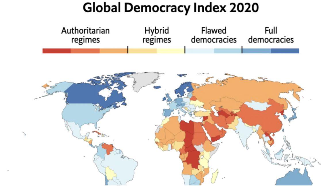 Photo of Հայաստանը նահանջել է ըստ Economist- ի 2020 թ-ի Ժողովրդավարության ցուցանիշի