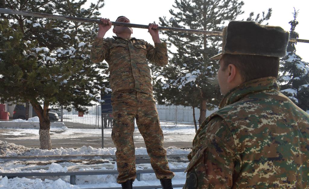 Photo of Զինծառայողները հանձնել են ֆիզպատրաստության ստուգարքներ