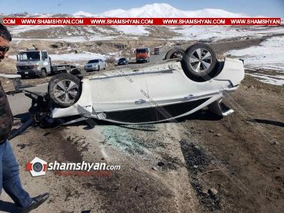 Photo of Խոշոր ավտովթար Սյունիքի մարզում․ 31-ամյա վարորդը Hyundai Sonata-ով բախվել է քարերին և գլխիվայր շրջվել․ կա վիրավոր