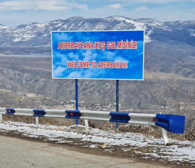 Photo of Հայաստանի Կապան քաղաքից Ճակատեն ադրբեջանցիները տեղադրել են «Բարի գալուստ Ադրբեջան» ցուցանակ
