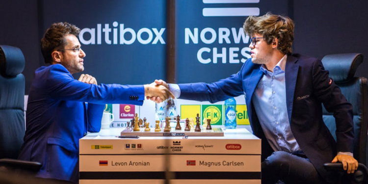 "Photo of Левон Аронян выбыл из плей-офф турнира по быстрым шахматам ""Magnus Carlsen Invitational"""