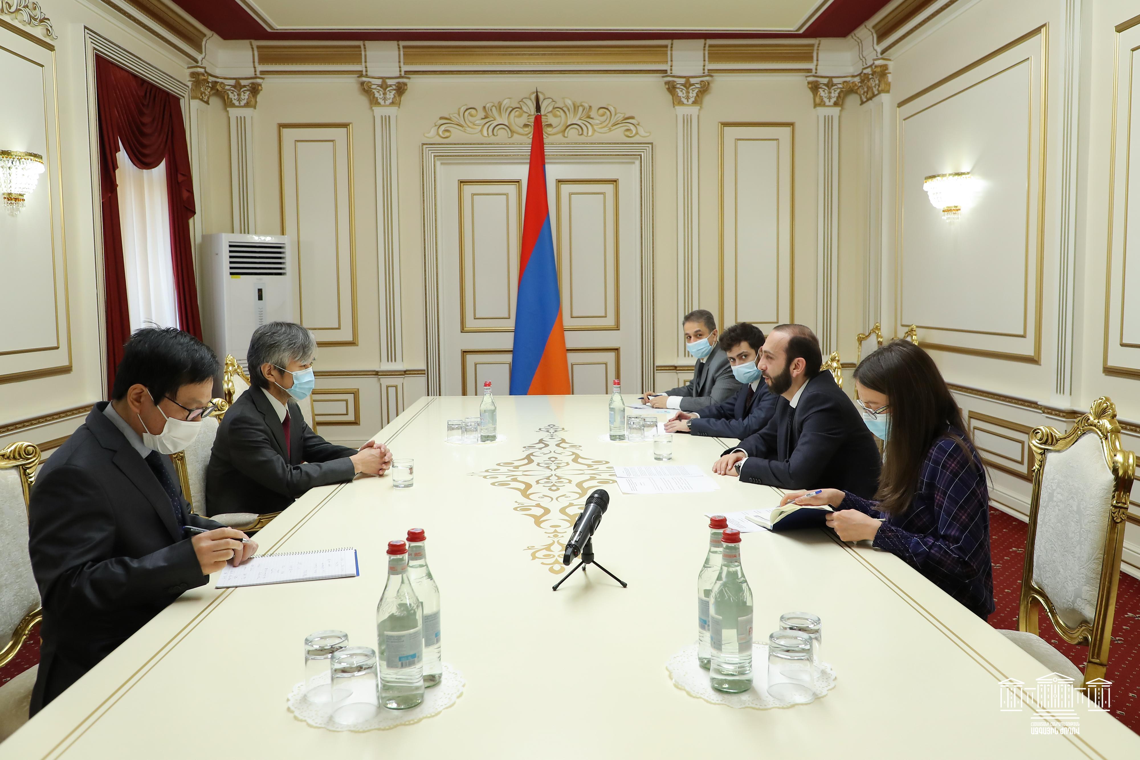 Photo of Արարատ Միրզոյանը հրաժեշտի հանդիպում է ունեցել Հայաստանում Ճապոնիայի դեսպան Ջուն Յամադայի հետ
