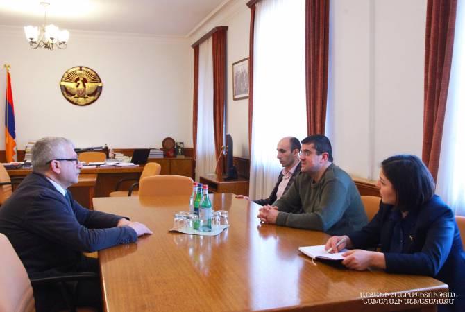 Photo of Արայիկ Հարությունյանն ընդունել է ՈԱԱԿ տնօրեն Ռուբեն Թոփչյանին