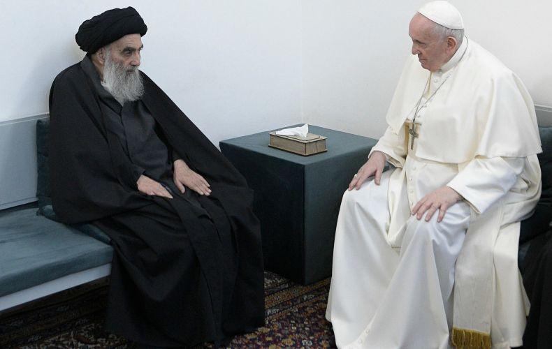 Photo of Հռոմի Ֆրանցիսկոս պապը պատմական հանդիպում է ունեցել Իրաքի բարձրագույն շիա հոգևորականի հետ