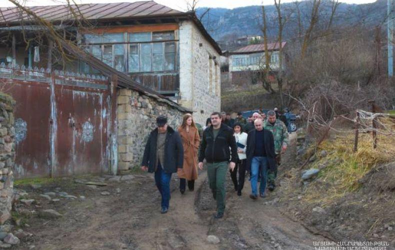 Photo of Араик Арутюнян посетил общины Аскеранского района — Даграв, Астхашен и Патара