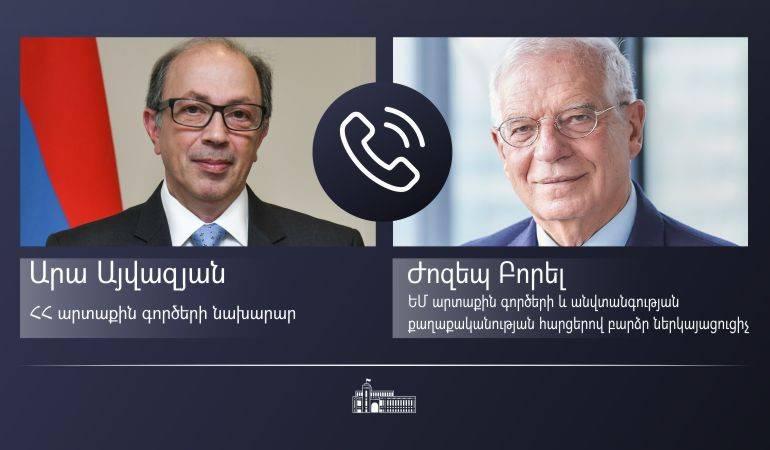 Photo of ԱԳ նախարար Արա Այվազյանի հեռախոսազրույցը ԵՄ բարձր ներկայացուցիչ Ժոզեպ Բորելի հետ