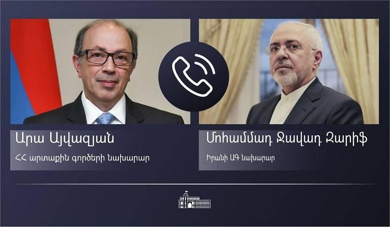 Photo of ԱԳ նախարար Արա Այվազյանի հեռախոսազրույցը Իրանի ԱԳ նախարար Մոհամմադ Ջավադ Զարիֆի հետ