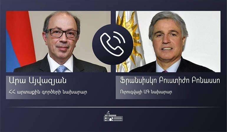 Photo of Հայաստանի և Ուրուգվայի ԱԳ նախարարները մտքեր են փոխանակել միջազգային և տարածաշրջանային անվտանգությանն ու խաղաղությանն առնչվող հարցերի շուրջ