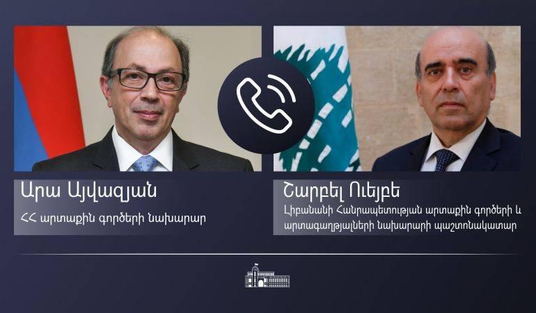 Photo of ՀՀ ԱԳ նախարար Արա Այվազյանը հեռախոսազրույց է ունեցել Լիբանանի արտաքին գործերի և արտագաղթյալների նախարարի պաշտոնակատարի հետ