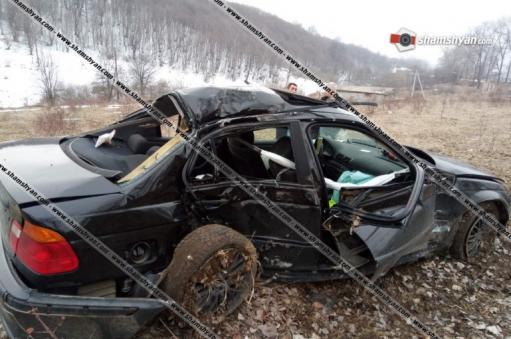 Photo of BMW-ն բախվել է ծառերին, մի քանի պտույտ շրջվելով՝ հայտնվել դաշտում. կա 1 զոհ, 2 վիրավոր