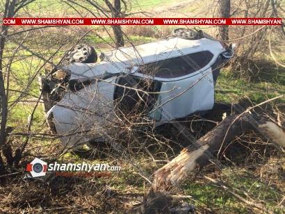 Photo of Խոշոր ավտովթար Արմավիրի մարզում. Nissan Teana-ն բախվել է մի քանի ծառերի, կոտրել դրանք և կողաշրջվելով հայտնվել դաշտում