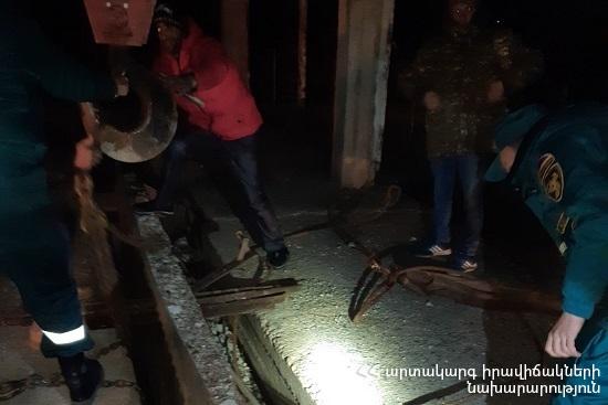 Photo of Ռանչպար գյուղում գետի հունը բարձրացել է, ինչի հետևանքով ջրածածկվել են համայնքի հողատարածքները