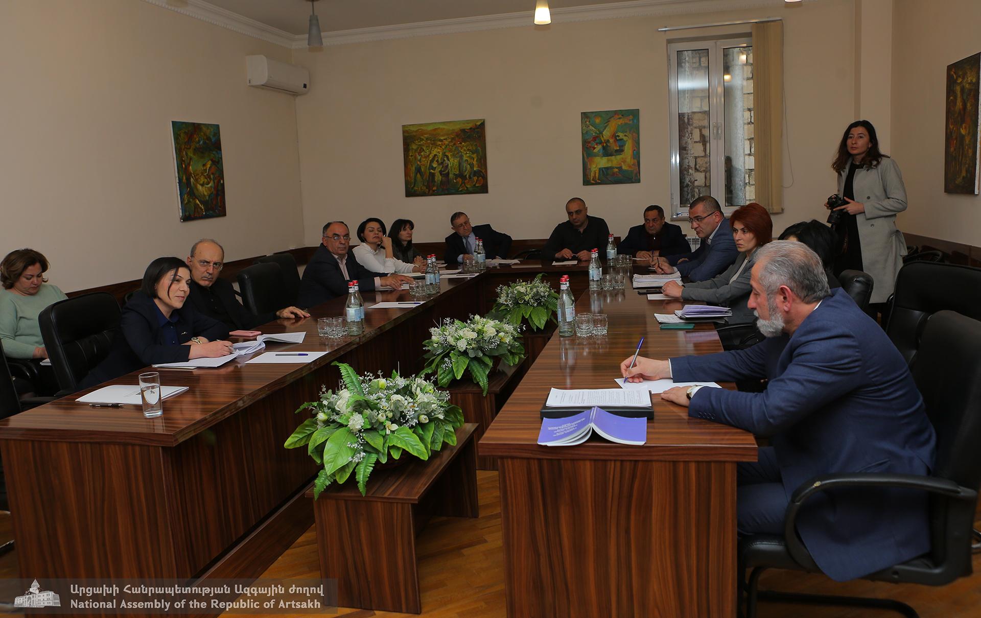 Photo of Տեղի է ունեցել Արցախի Հանրապետության Ազգային ժողովի գիտության, կրթության, մշակույթի, երիտասարդության և սպորտի հարցերի մշտական հանձնաժողովի նիստը