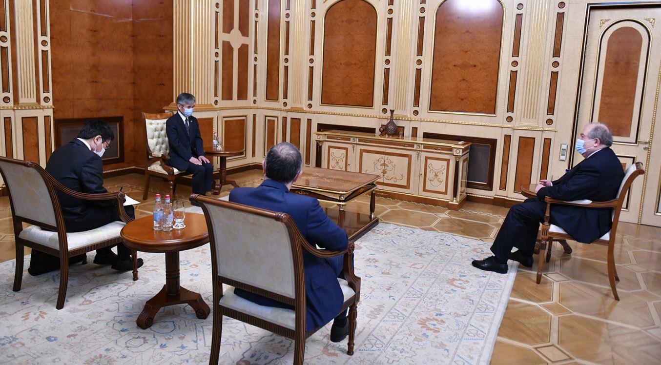 Photo of Նախագահ Արմեն Սարգսյանն ընդունել է Հայաստանում Ճապոնիայի դեսպան Ջուն Յամադային
