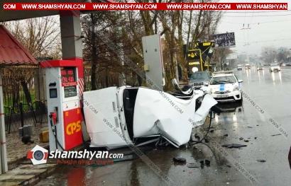 Photo of Ավտովթար Երևանում. BMW-ն բախվել է բենզալցակայանի մոտ կայանված «07»-ին, վերջինս կողաշրջվել է. BMW-ի վարորդը դեպքի վայրից հեռացել է
