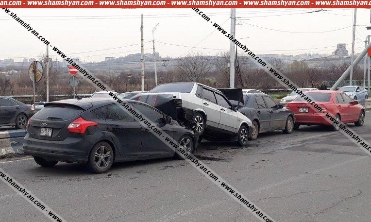 Photo of Շղթայական ավտովթար Երևանում. Իսակովի պողոտայում բախվել են 2 Mercedes, Ford Focus-ն ու ВАЗ 21099-ը