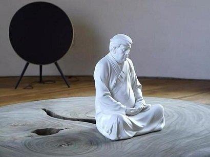 Photo of Китайский художник создал статуэтку Трампа в образе Будды