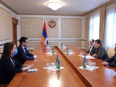 Photo of Президент Республики Арцах принял министра юстиции Армении
