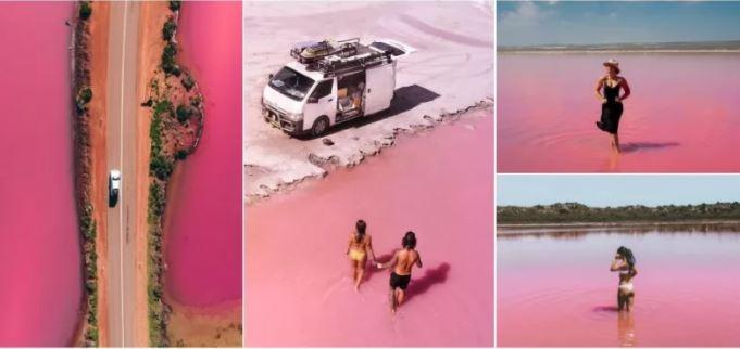 Photo of Գունագեղ հրաշք Ավստրալիայում. վարդագույն ջրերի ծովածոց