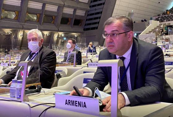 Photo of ԱԳ նախարարի տեղակալ Արտակ Ապիտոնյանի ելույթը ՄԱԿ-ի Հանցավորության կանխարգելման և քրեական արդարադատության 14-րդ կոնգրեսում