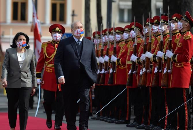 Photo of Վրաստանի նախագահի նստավայրում տեղի է ունեցել ՀՀ նախագահի դիմավորման պաշտոնական արարողությունը