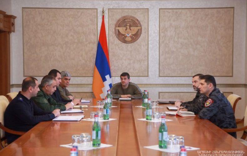 Photo of Президент Республики Арцах созвал совещание по некоторым вопросам внутренней безопасности
