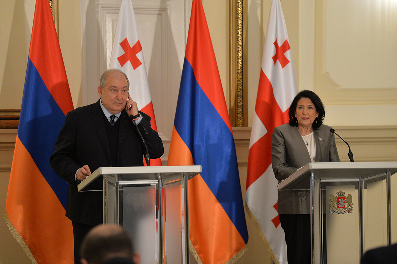 Photo of Վրաստանի հետ մեր հարաբերությունների ամրապնդումն ինչպես մեր երկրների, այնպես էլ տարածաշրջանի անվտանգության և զարգացման կարևոր նախադրյալներից է. Հայաստանի և Վրաստանի նախագահները հանդես են եկել մամուլի համար հայտարարությամբ