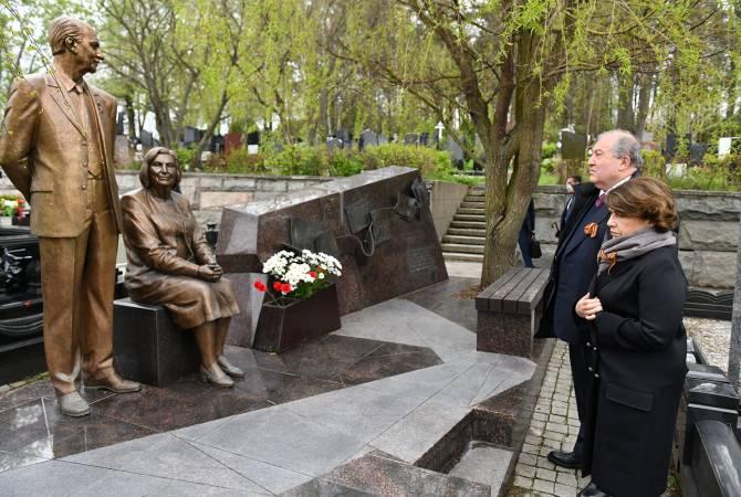 Photo of В Москве президент Саркисян почтил память разведчиков  — Геворка и Гоар Варданянов