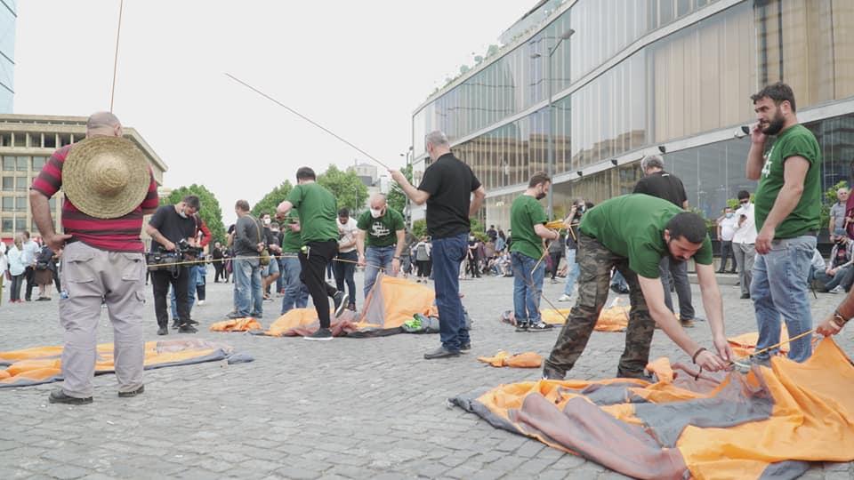 Photo of Противники строительства Намахвани ГЭС установили палатки в центре Тбилиси